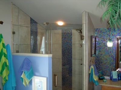 Bathroom Remodleing with custom tilework