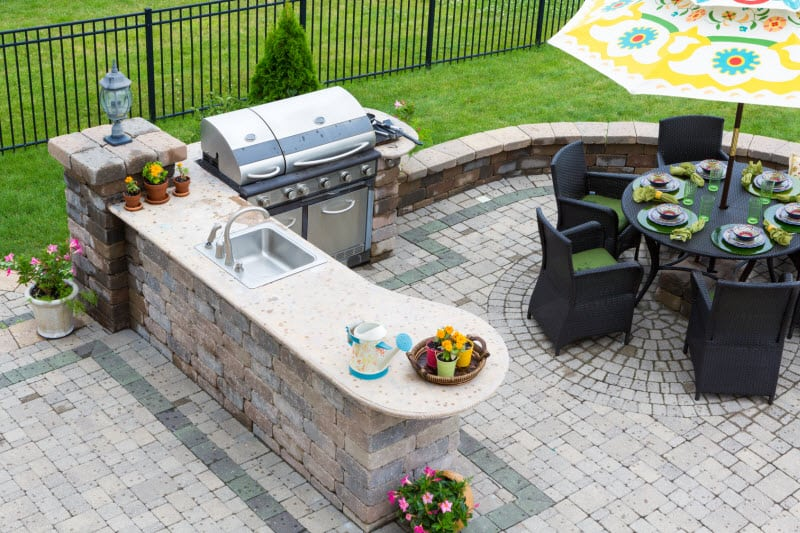 Outdoor Kitchen Sovereign Construction Services