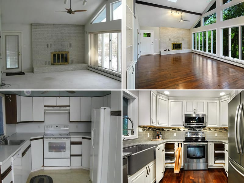 Kitchen Renovations Before and After | Sovereign Construction Services