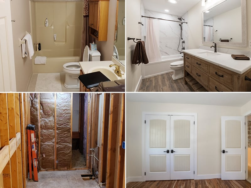 Bathroom Remodel Before and After | Sovereign Construction Services